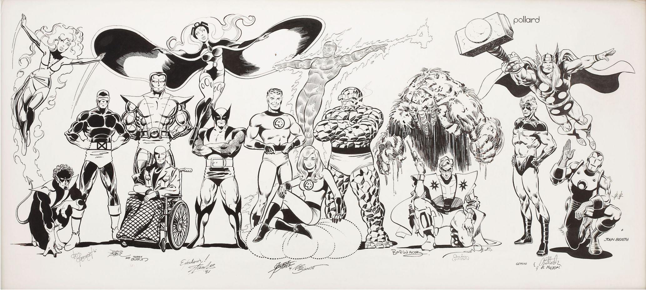 Dibujos Marvel